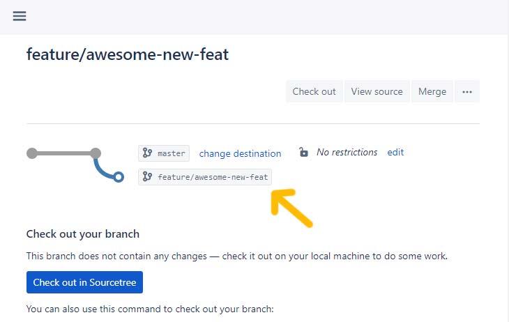 new Bitbucket branch