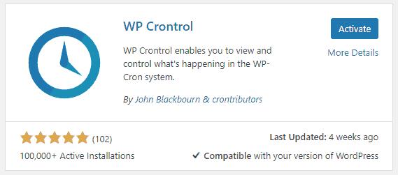wp crontrol wordpress cron monitoring plugin